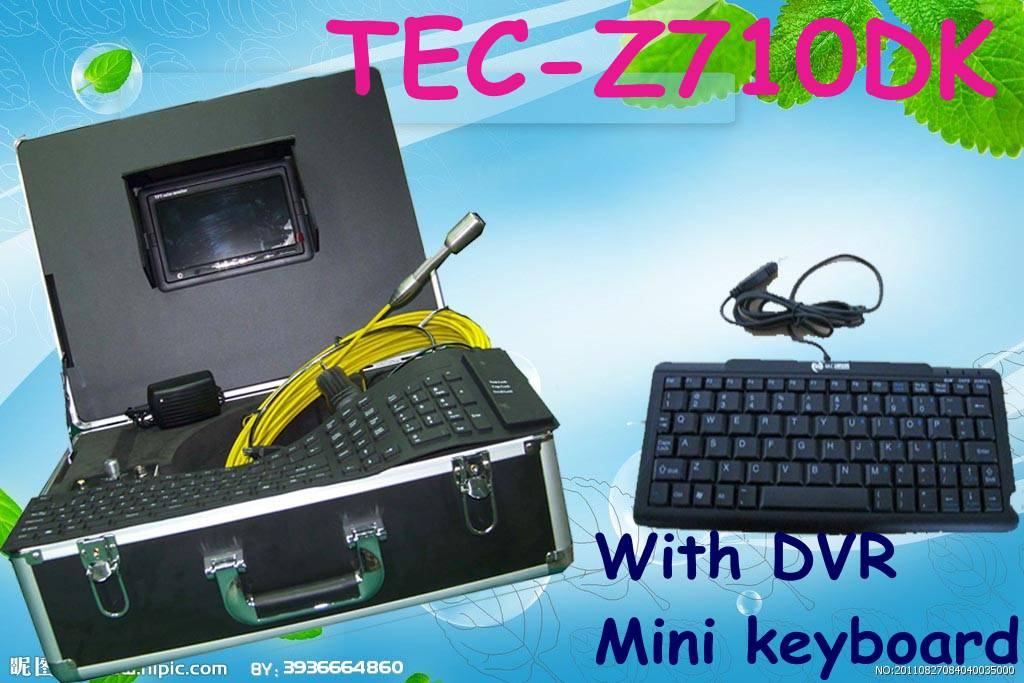 Waterproof Sewer Inspection Camera Equipment Drain Camera for Sale with DVR&Keyboard TEC-Z710DK