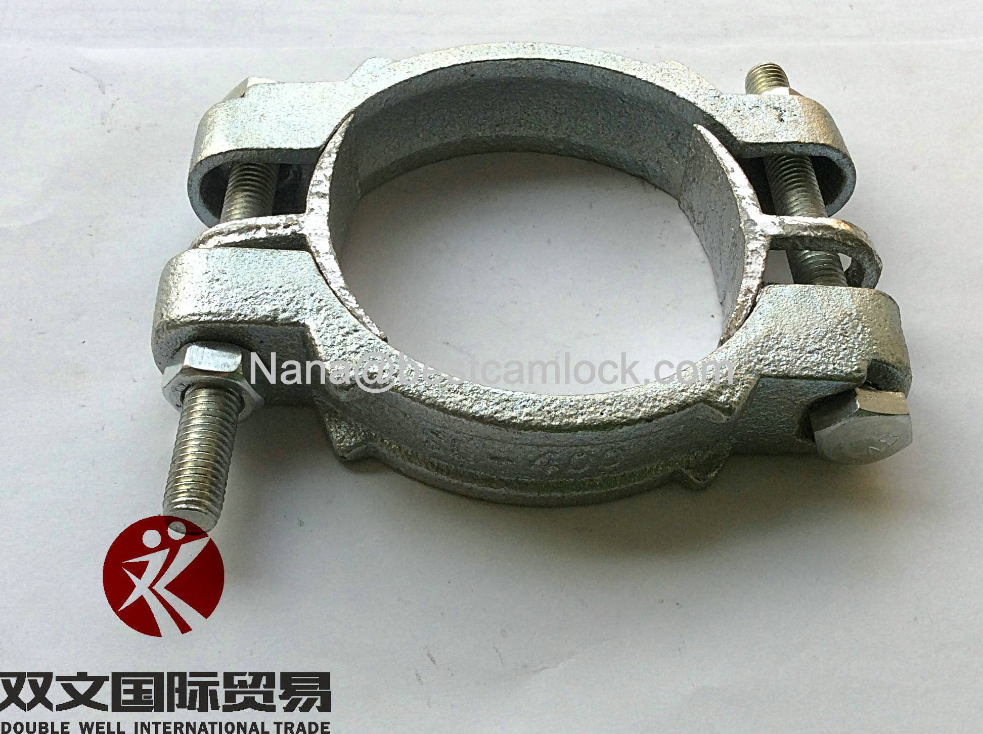 Double bolt hose clamps