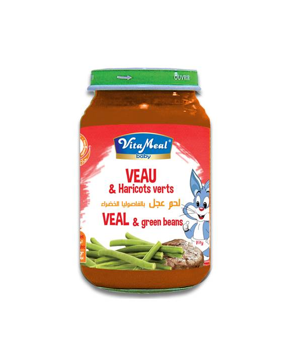 VITAMEAL BABY - Glass jars - Veal & Green beans