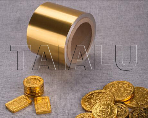 Golden Chocolate Coins Foil Wrapping Aluminum Foil