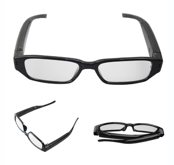 NEW HOT Sport Camera HD 720P Mini DVR Sunglasses Transparent Lense Video Camera for Action
