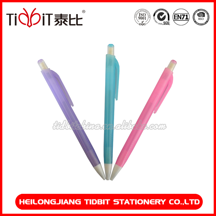 2mm Transparent barrel clutch pencil with eraser and sharpener wholesale