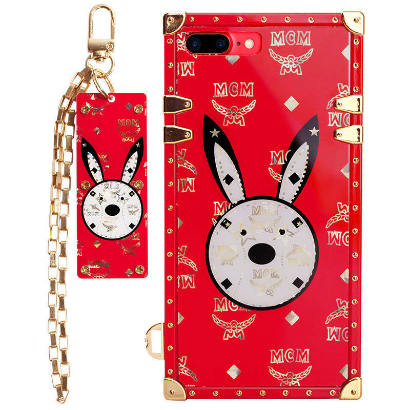 Trend Rabbit Rubber Phone Case Brands for iPhone 6s/7/8 plus Back Cover Shockproof Wholesale