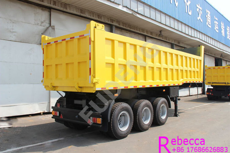 HYWA hydraulic cylinder 45cbm tipper semi trailer 3 axle dump truck trailer for sale