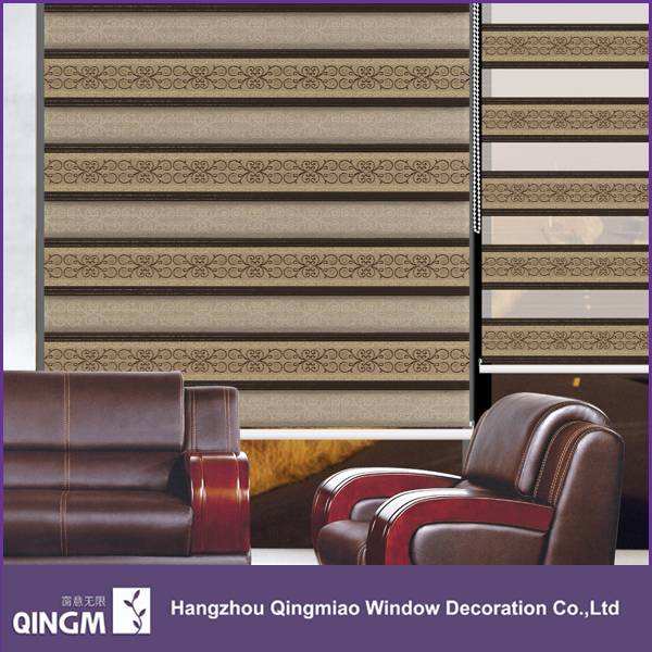 Jacquard Curtain Fabric Blackout For Window Day And Night Roller Curtain