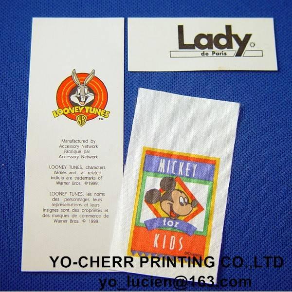 Custom garment labels