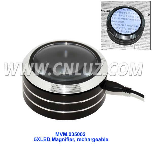 Touched 5X LED Magnifier Rechargeable/ Mini Microscope for Seniors MVM.035002
