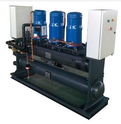 Scroll modular water source heat pump