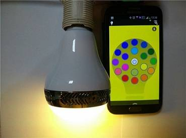 Amazing APP Control LED light with bluetooth speaker