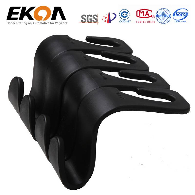 EKOA EK-139 Pack of 4 Car Seat Back Plastic Hook Hanger Car Storage Holder Backpack Car Accessories