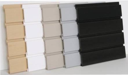 PVC slat wall panel for shops , supmarket/peg board