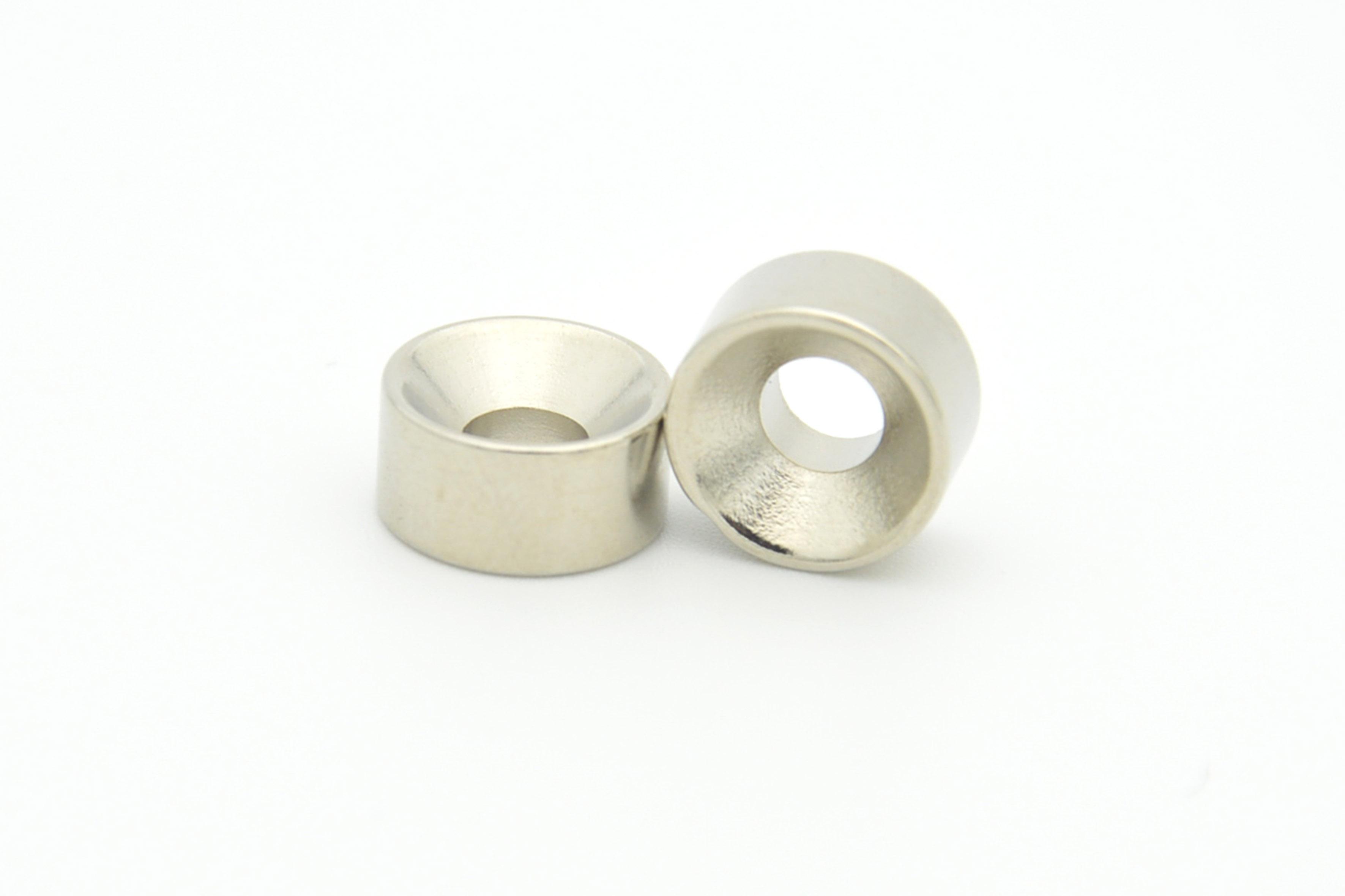 Countersunk neodymium NdFeB magnets with Nickel coating