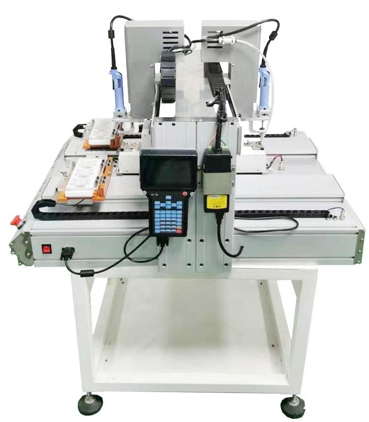 High efficiency dual screw fastening machine full automatic screw robot