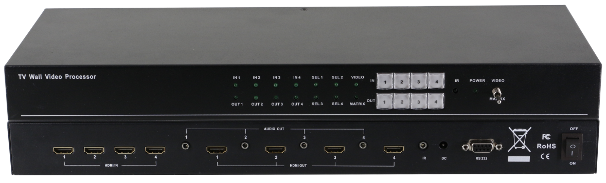 4X4 high performance TV Wall Video Processor