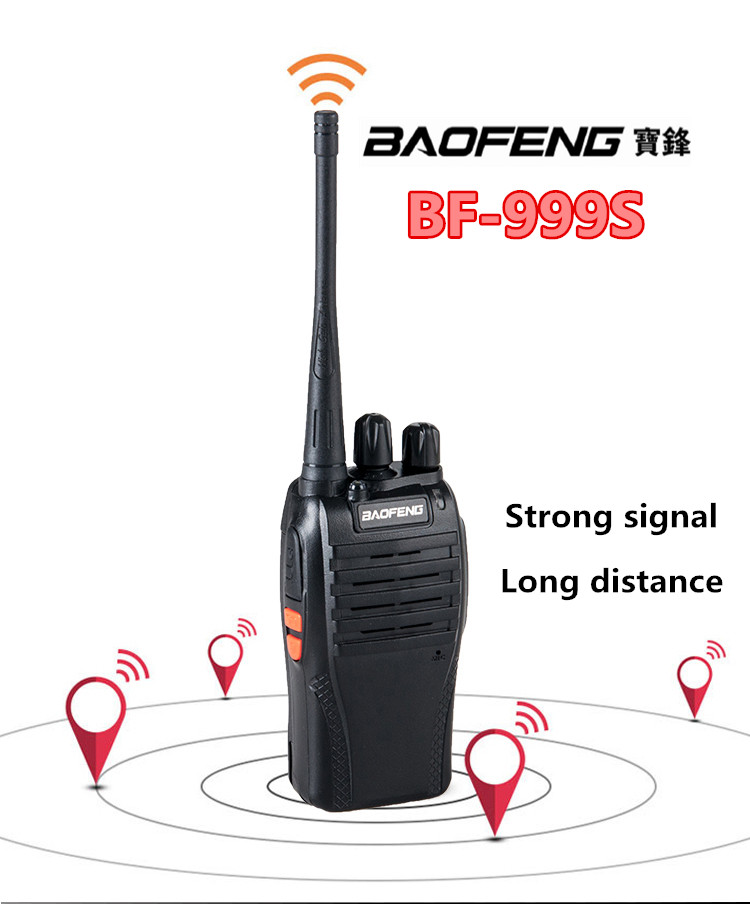 Cheap interphone BaoFeng BF-999S UHF 400-470MHz with VOX function two way radio
