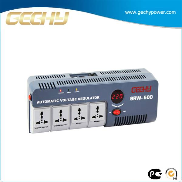 Portable Relay Type Voltage Stabilizer UK Power Extension Socket SRW-500-D