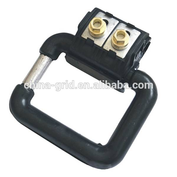 Electric cable insulation piercing clamp / grouding clamp