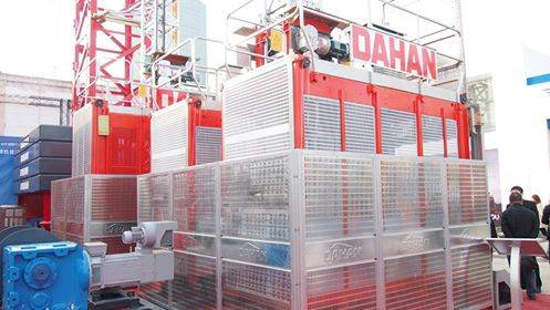 Dahan construction hoist for passengers and material