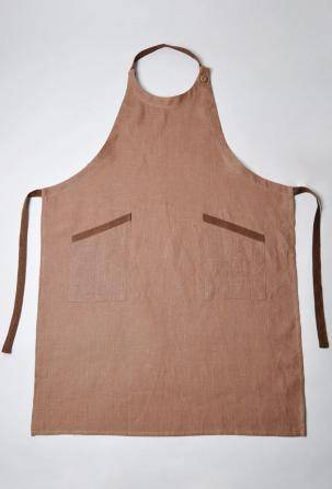 linen aprons. Designed and manufactured in Italy.