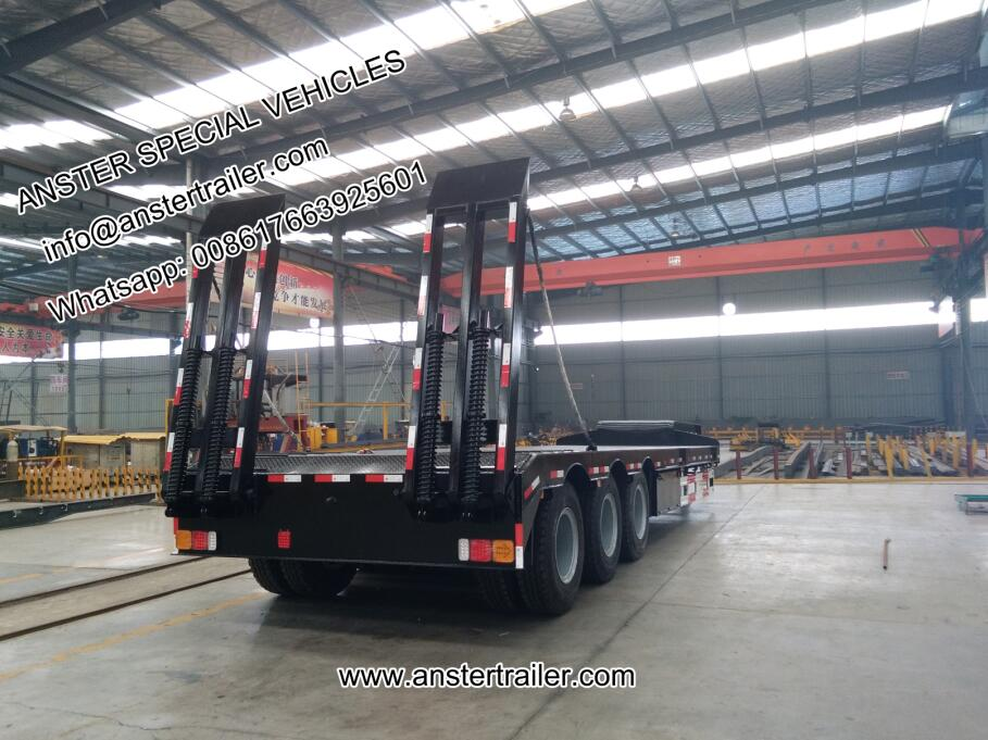 3/4/5 axles 60/70/80 tons lowbed/low bed trailer for sale
