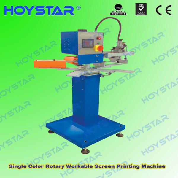 single color rotary silk screen printing machine for sock/anti slip sock