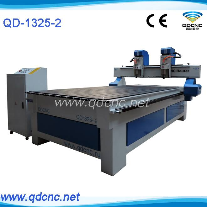 20% discounted dual heads wood cnc router machine/multi heads wood cnc router QD-1325-2