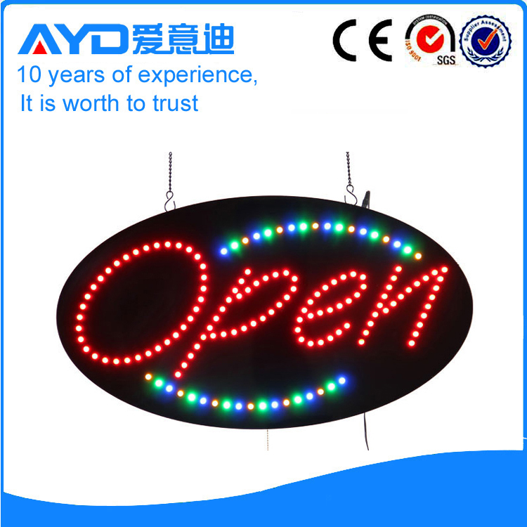 Customized allowed super bright flash led open sign