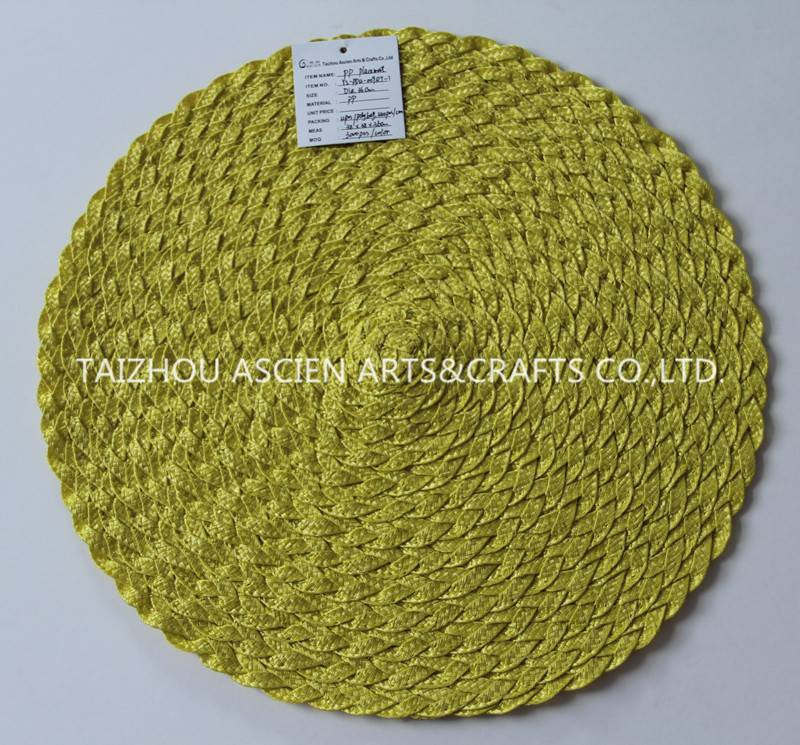 Round PP placemats YS-PP12-009RT