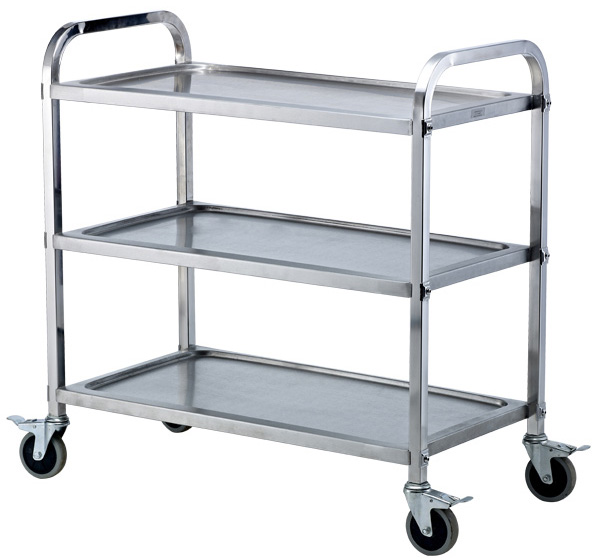 Stainless steel three-tier dining car SC-3M