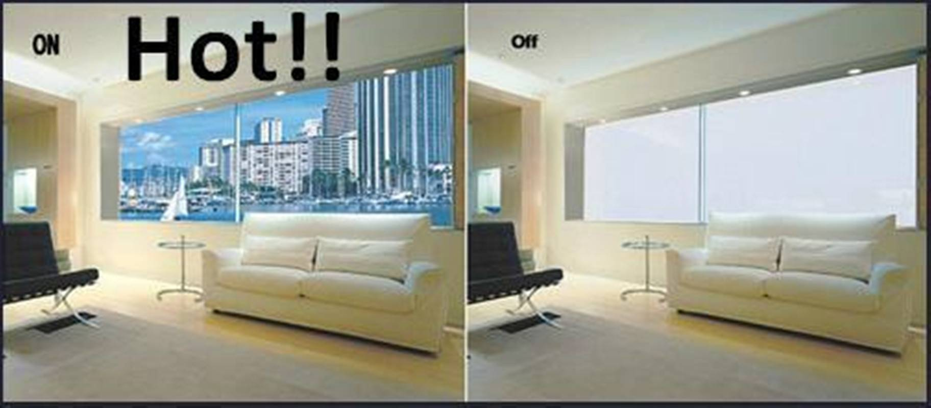 Customized different shape PDLC Smart film, smart glass film