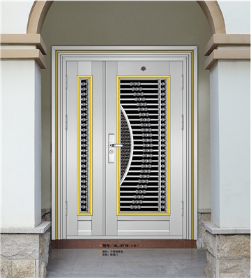 Burglar proof Indian house main gate designs HL-9776