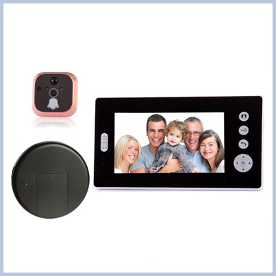 Home Security Remote Unlock 2.4GHz Video Digital Door Eye Peephole Viewer Camera