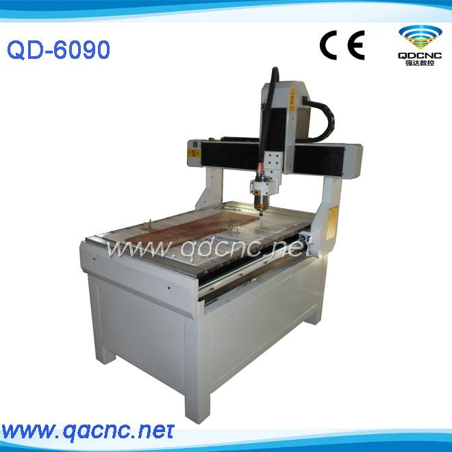 25% discounted cnc aluminium carving machine with 1.5kw water cooling spindle QD-6090
