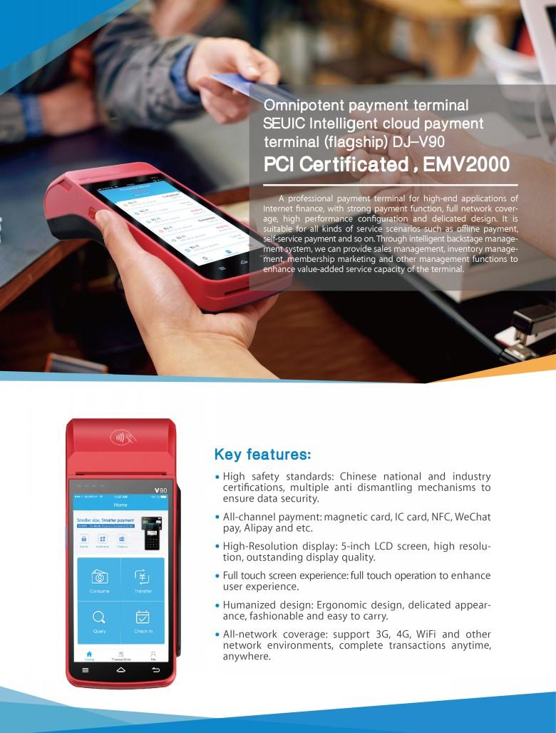 Mobile Handheld Payment Terminal Smart POS-DJ V90