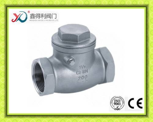 Stainless Steel Threaded Horizontal Check Valve