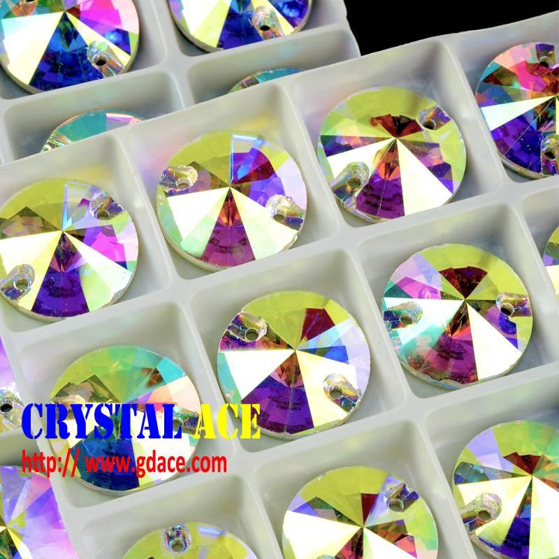 3015 crystal rivoli sew-on stones, crystal AB strass sew-on stones MOQ 1 box