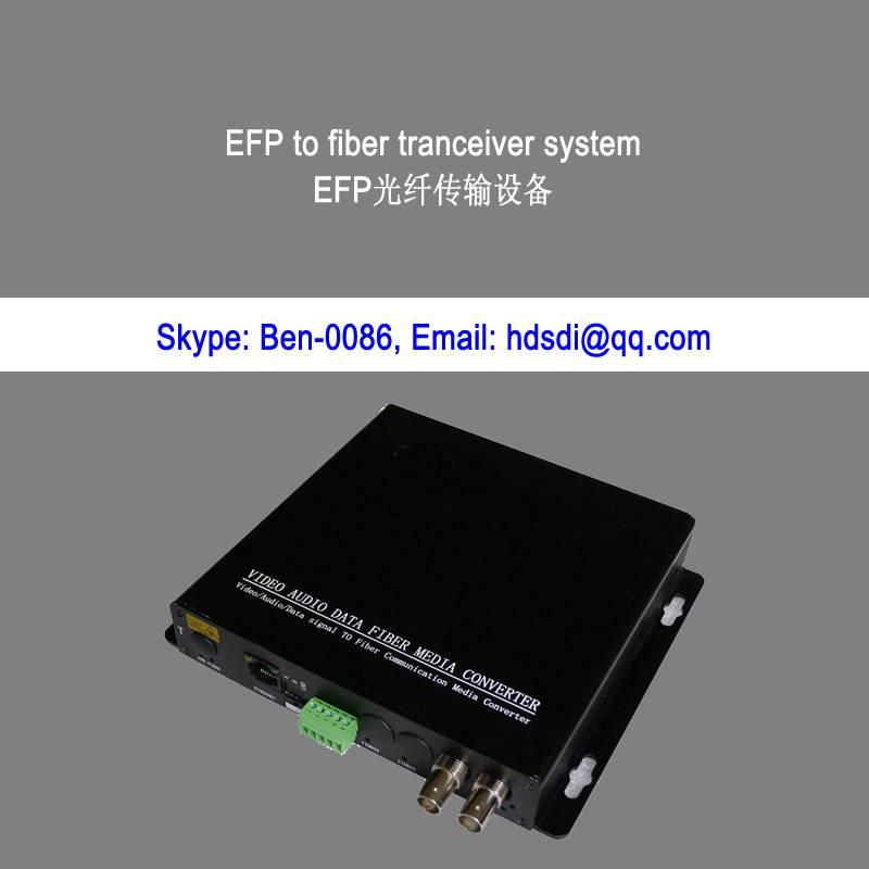 HDSDI & Bidi audio & RS422 & Ethernet to fiber optic converter