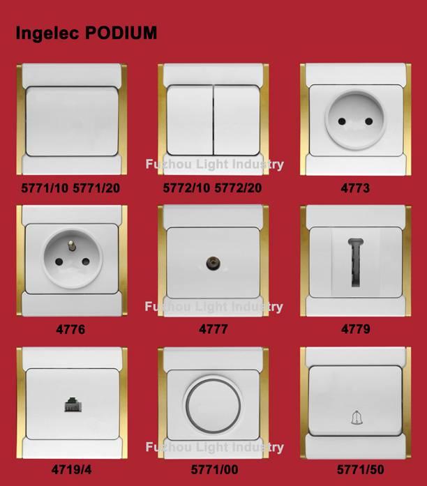 Wall switch - Ingelec design - PODIUM - French type