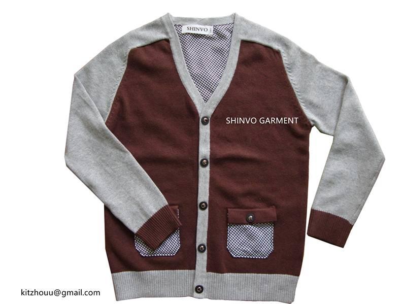Fashion Boy Style Kids Cardigan Sweater Garment