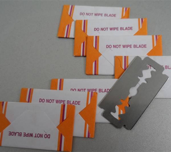 Fashion design double edge safety razor blade