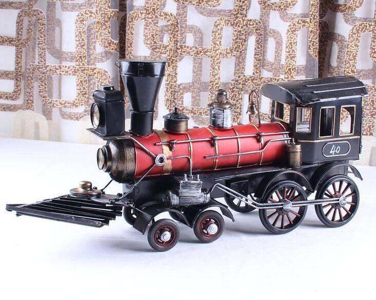 metal tin train model