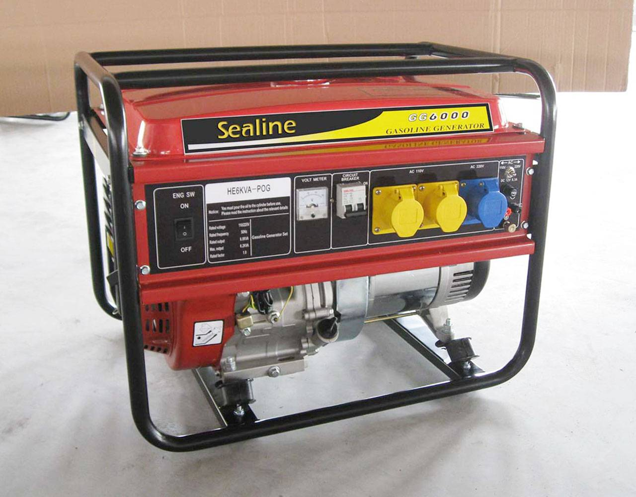 5KW Portable Open Type Gasoline Generator