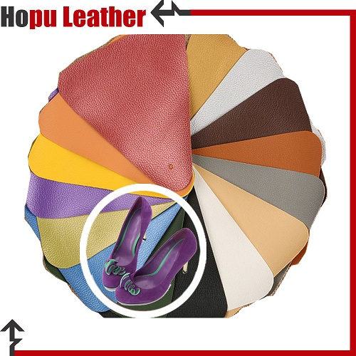 embossed pu faux leather fabric coated rexine for shoes