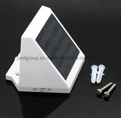 ABS Body Material LED Light Source LED Solar Panel Wall Light