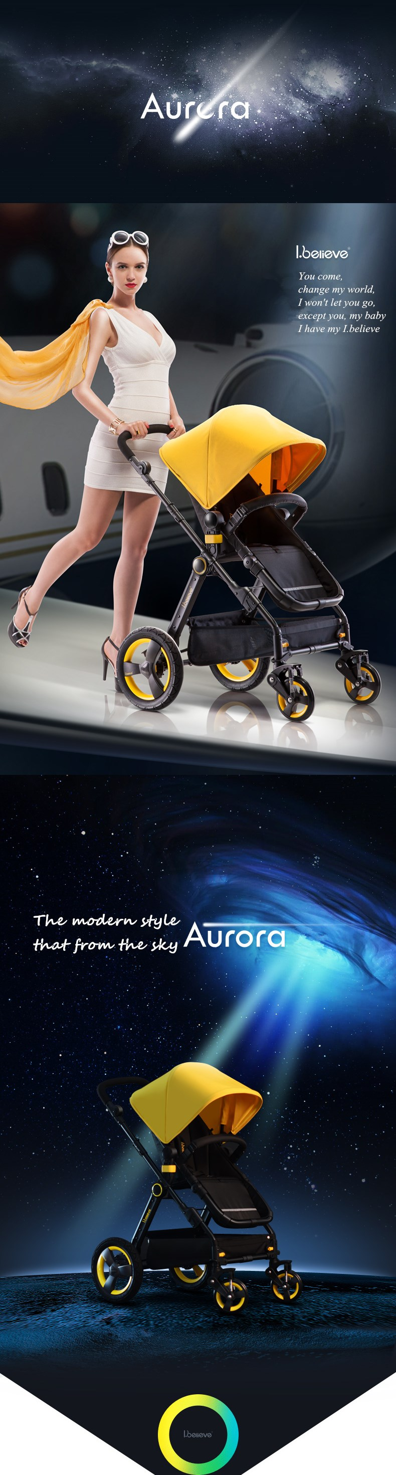 Aluminum Alloy Frame Material and Baby Stroller Type safe material baby stroller carriage I-S021
