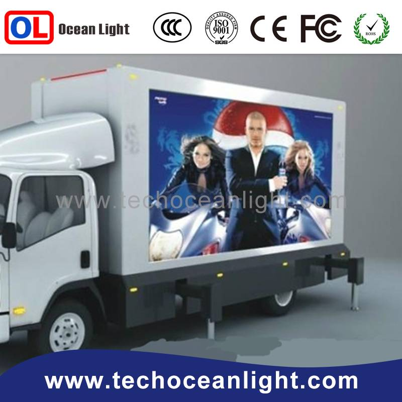 Vehicle used led panel moving message screen