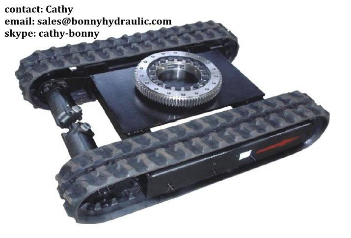 rubber crawler track undercarriage with slew bearing