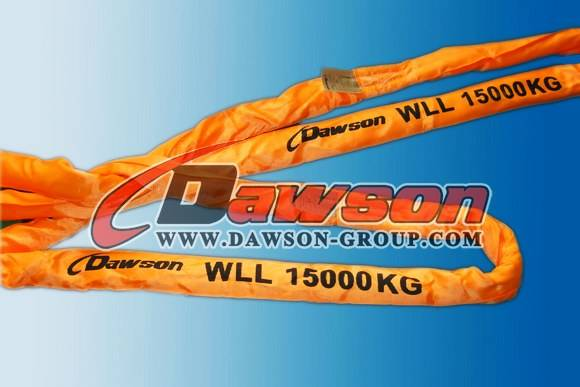 WLL 15Ton Heavy Duty Polyester Round Slings