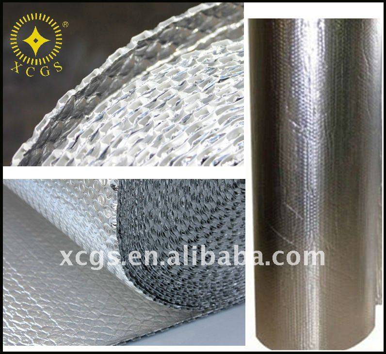 Roof insulation material aluminum foil air bubble film roll