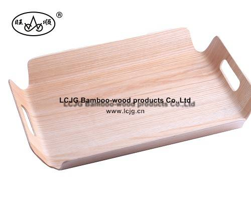 Wooden Tray with holder for Restaurant